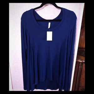 🔥NWT💋FREE PEOPLE💋DARK BLUE TUNIC SZ S🔥